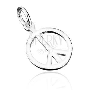 Stříbrný přívěsek 925 - symbol míru