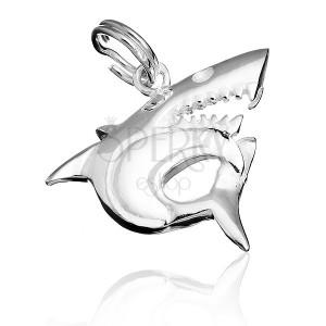 Stříbrný přívěsek 925 - dravý žralok