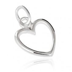 Stříbrný přívěsek 925 - obrys srdce X13.10