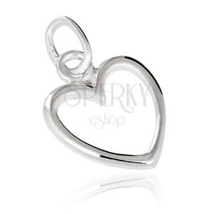 Stříbrný přívěsek 925 - obrys srdce