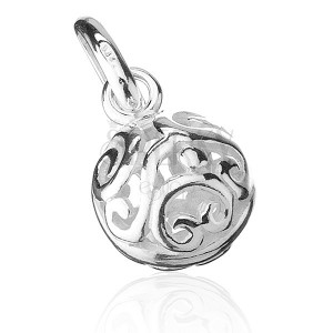 Stříbrný přívěsek 925 - kulička s ornamenty