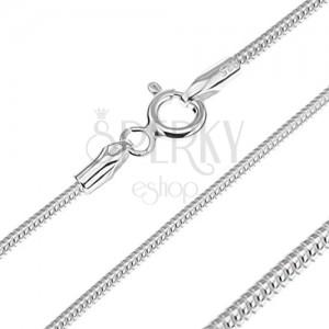 Stříbrný řetízek 925 - článkovaný had, 1,4 mm