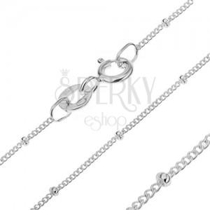Řetízek ze stříbra 925 - hustá očka a kuličky, 1,7 mm