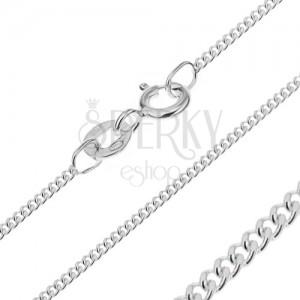 Stříbrný řetízek 925 - hustá očka, 1,4 mm