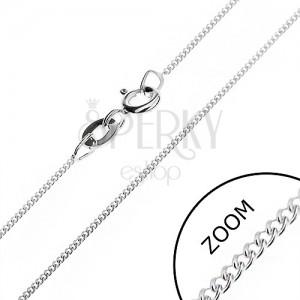 Jemný řetízek ze stříbra 925 - hustá očka, 0,8 mm