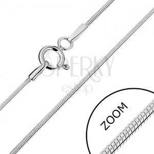 Řetízek ze stříbra 925 - zaoblený s hadím designem, 1 mm