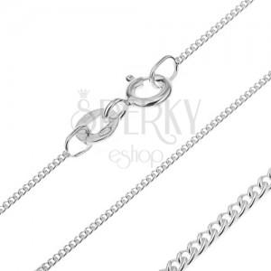 Stříbrný řetízek 925 - kruhová očka, 1,3 mm