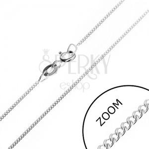 Jemný řetízek ze stříbra 925 - hustá očka, 1,2 mm