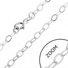Stříbrný řetízek 925 - hladké ovály, 3,2 mm