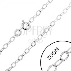 Řetízek ze stříbra 925 - hladké ovály, 2,6 mm