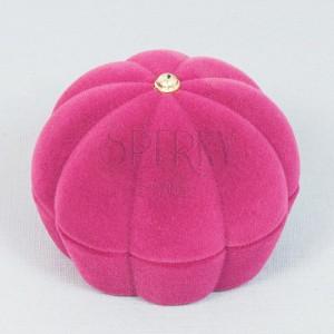 Sametová krabička - burgundy mušle na prsten