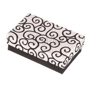Dárková krabička na soupravu - černo-bílé ornamenty