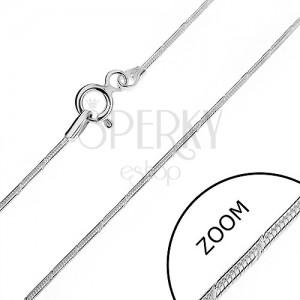 Řetízek ze stříbra 925 - zaoblený, se zářezy, 1 mm