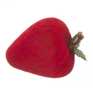 Krabička na prsten - červená jahůdka
