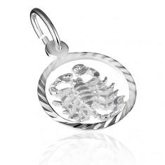 """Přívěsek ze stříbra 925 - kruh se znamením """"štír"""" X10.09"""