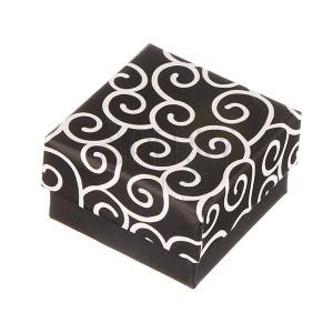 Krabička na náušnice - černá se zakrouceným motivem