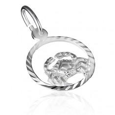 """Přívěsek ze stříbra 925 - kruh se znamením """"rak"""" X10.08"""