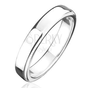 Prsten ze stříbra 925 - hrubší kroužek s lesklým povrchem