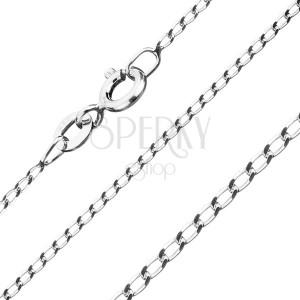 Stříbrný řetízek 925 - hladká podlouhlá očka, 1,2 mm