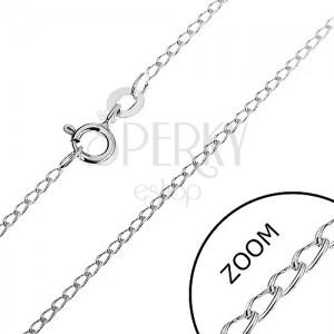 Stříbrný řetízek 925 - zaoblená podlouhlá očka, 1,4 mm