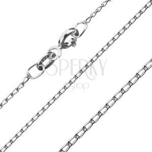 Stříbrný řetízek 925 - oblá podlouhlá očka, 1 mm