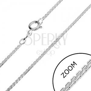 Stříbrný řetízek 925 - linie zaoblených esíček, 1,3 mm