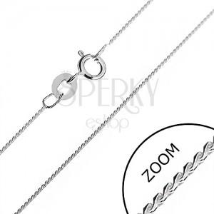 Stříbrný řetízek 925 - jemná linie hádka ze zaoblených esíček, 0,6 mm