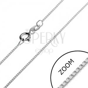 Stříbrný řetízek 925 - hustě propojené prázdné kostky, 0,85 mm
