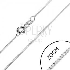 Řetízek ze stříbra 925 - kolmo uchycené lesklé kostky, 0,75 mm