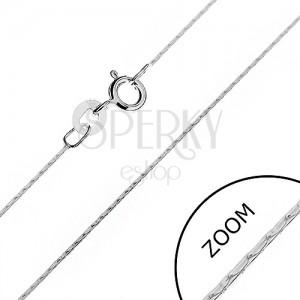 Stříbrný řetízek 925 - lesklý had z tyčinek, 0,6 mm