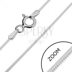 Řetízek ze stříbra 925 - hustá čtverhranná linie, 0,9 mm