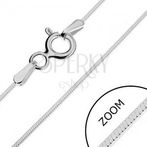 Stříbrný řetízek 925 - tenká čtverhranná linie, 0,65 mm