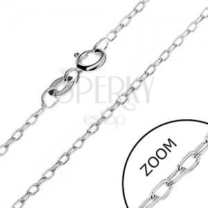 Stříbrný řetízek 925 - hladká oválná očka, 1,3 mm