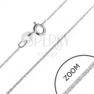 Stříbrný řetízek 925 - zaoblené, lesklé tyčinkové články, 0,6 mm
