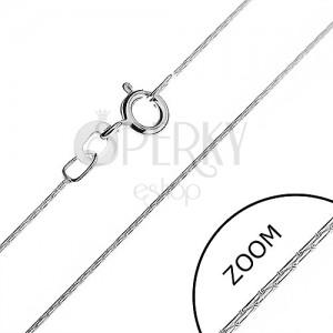 Řetízek ze stříbra 925 - tyčinkové články, 0,5 mm