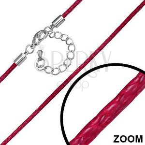Nastavitelná červená nylonová šňůrka s karabinkou