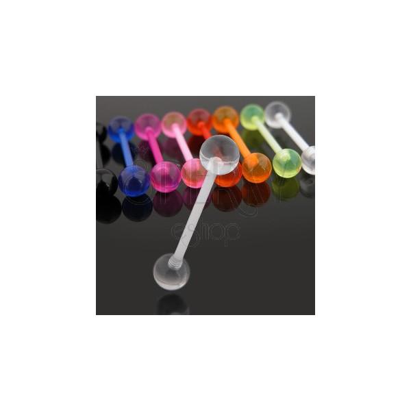 Piercing do jazyka z UV flexibilního materiálu