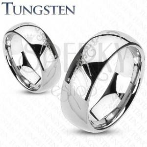Wolframový prsten - hladký lesklý kroužek, Pán prstenů