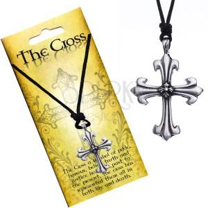 Náhrdelník s přívěskem ve tvaru kříže, trojlístková ramena