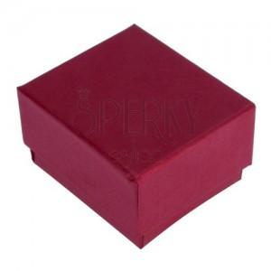 Červeno-hnědá krabička na prsten s perleťovým leskem