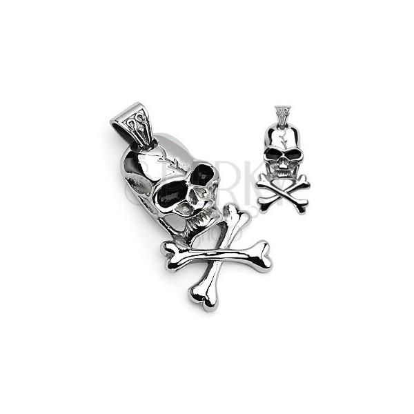 Přívěsek pirátský symbol - lebka a kosti