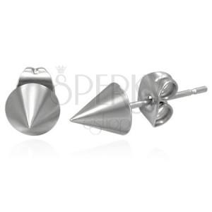Náušnice z chirurgické oceli ve tvaru kužele
