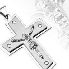 Ocelový přívěsek - Kristus na kříži