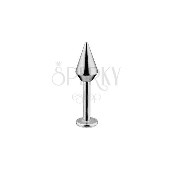 Labret - širší hladký kužel, chirurgická ocel 316L, tloušťka 1,6 mm