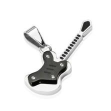 Přívěsek z oceli - černá malá kytara