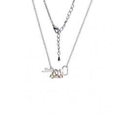Lesklý náhrdelník s klíčkem a barevnými očky se zirkonem