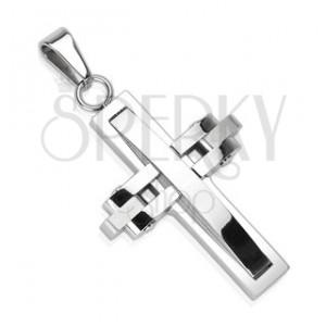 Přívěsek z chirurgické oceli - pohyblivý kříž