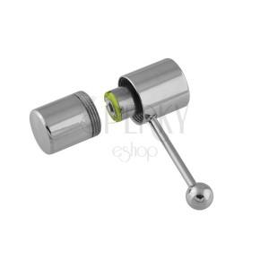 Vibrační piercing do jazyka z oceli - kladívko