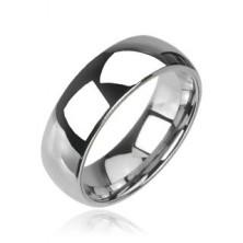 Wolframový prsten v lesklém provedení, snubní