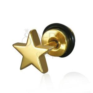 Fake piercing do ucha ve tvaru hvězdy - ocelový